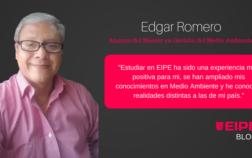 Entrevista a Edgar Romero, alumno del Máster en Gestión del Medio Ambiente de EIPE Business School